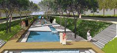 Jeddah 002GUSTAFSONPORTER Linear Park, Arab World, Recreational Activities, Jeddah, Mecca, Pilgrim, Water Features, Environment, Landscape