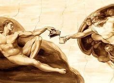 "Coffee ""art""!"