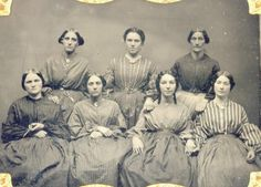 "Lovely group of ""generic"" working class ladies that could be well-suited for the middle 1850s or into the 1860s."