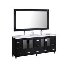 "Pratt 72"" Double Bathroom Vanity Set with Mirror"