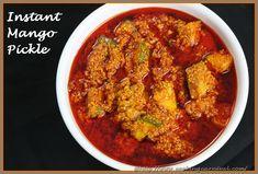 Instant Mango Pickle recipe with step by step photos by Dhwani Mehta. Gujarati style Mango Pickle / aam ka achar/ Keri nu khatu athanu Recipe. This is insta