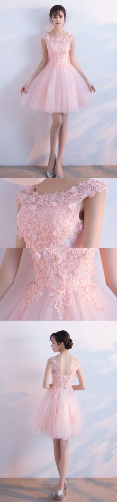 Short Homecoming Dress, Tulle Homecoming Dress, Applique Homecoming Dress, A-Line Junior School Dress, Sequin Graduation Dress, 17522