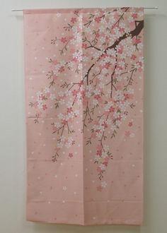 Japanese Noren Curtain Sakura Cher 9894016 | eBay Japanese Textiles, Japanese Prints, Cherry Tree, Cherry Blossom, Japanese House, Japanese Style, Noren Curtains, New Bedroom Design, Japanese Tea Ceremony