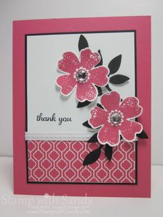 Greetings, all! Today I have a quick post and a simple card to share with you using the Flower Shop stamp set and coordinating Pansy Pu...