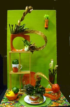 """""""A Healthy Lunch"""" by Bonnie Allan. Incorporating fruits and/or vegetable. Type 2 design."""