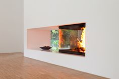 Designkamin als Raumteiler. #Designkamin #Fireplace #Raumteiler www.ofenkunst.de