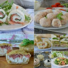 ANTIPASTI SENZA COTTURA ricette facili e velocissime Buffet, Fresh Rolls, Happy Hour, Finger Foods, Potato Salad, Food And Drink, Chicken, Meat, Cooking