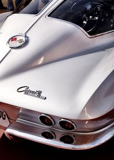 Classic White 63 Corvette Stingray