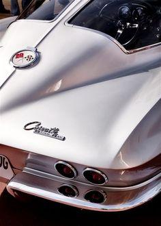 Classic White 63 Corvette Stingray