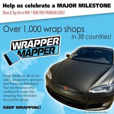 Help us celebrate and WIN a FREE 1 year Premium Membership!!! Repost and tag @WrapperMapper to be entered into the drawing.   Promoting Wrappers Around the World   Are You On The Map?   WEB: http://ift.tt/1fC1vAh FB: http://ift.tt/1D7uQxf TWITTER: http://www.twitter.com/wrappermapper  #wrappermapper #truckwrap #carwrap  #vinylwrap #sportscar #picoftheday #exoticcar #mustang #chromewrap  #carporn #instagood #beautiful #beauty #cool #awesome #Porsche #Ferrari  #lamborghini #bmw #mercedes…