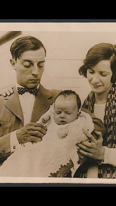 Buster Keaton with family natalie Talmadge and son