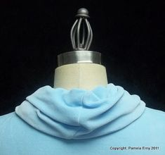 """Off The Cuff ~Sewing Style~: Tutorial- The """"Spiral"""" Cowl Collar"""