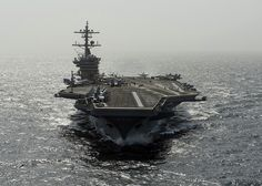 The Nimitz-class aircraft carrier USS Carl Vinson (CVN 70) is underway in the Arabian Sea. by Official U.S. Navy Imagery