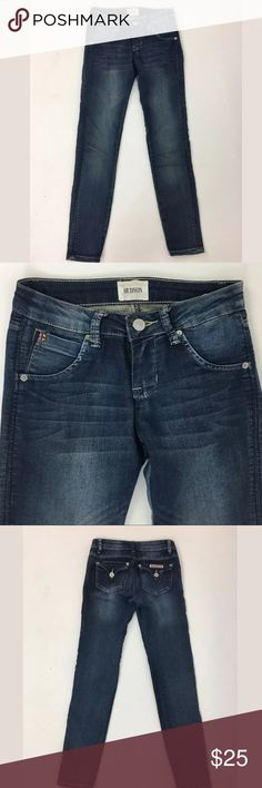 Hudson skinny jeans Waist: 24 Rise: 6.5 Inseam: 27 90% cotton, 8% polyester, 2% Spandex  Item 399 Hudson Jeans Bottoms Jeans