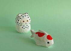 木彫り人形ねこ 豆絞りにゃん [MWF-186]