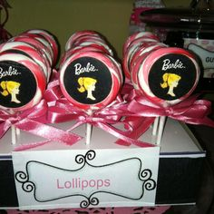Barbie Party (Will use bright color lollipops)