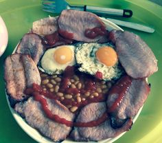 Slimming world fry up 2 syns and that's for the ketchup yum! Slimming World Recipes, Ketchup, Pot Roast, Fries, Homemade, Ethnic Recipes, Food, Carne Asada, Roast Beef