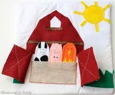 diy toddler quiet book - barn