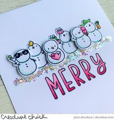 Here is your monthly reminder to Get Cracking on those holiday cards! Each month I am creating Holiday cards so come November I won't be… Christmas Paper Crafts, Homemade Christmas Cards, Christmas Decor, Christmas Greeting Cards, Holiday Cards, Watercolor Christmas Tree, Mama Elephant Stamps, Snowman Cards, Snowflake Cards