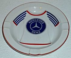 "www.jaedasplaythings.com Mercedes Benz Ashtray Advertising Red Blue Shirt 6.25"" #Mercedes"