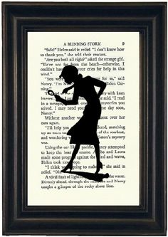 Nancy Drew    Your print will be on a random page from Nancy Drew. The approximate size of the page is 4 3/4 x 7 1/2 and the image will fit in a