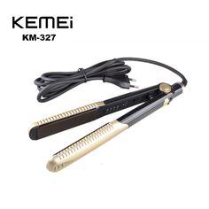 Kemei KM-327新しい髪ストレートプロフェッショナルスタイリングポータブルセラミックストレートヘアーアイロンスタイリングツール