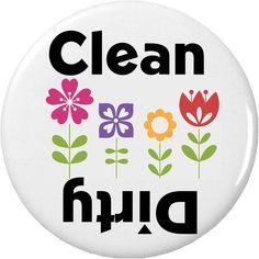 "Clean / Dirty (Flower Garden) 2.25"" Magnet"