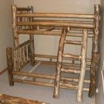 Rustic Furniture Creations - Grizzly Log Bunk Bed  SPECIAL PRICE: $1,947.00
