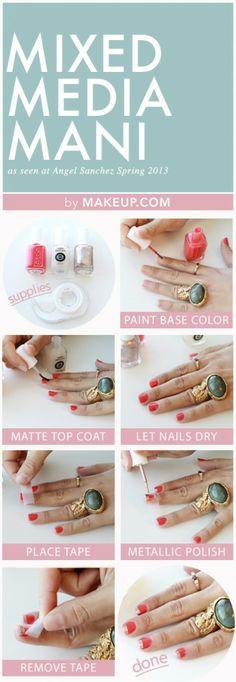 Pretty Nails with Gold Details nails ideas nails d - http://yournailart.com/pretty-nails-with-gold-details-nails-ideas-nails-d-10/ - #nails #nail_art #nails_design #nail_ ideas #nail_polish #ideas #beauty #cute #love