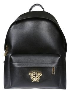5ff94175b4d2 VERSACE MEDUSA LOGO PLAQUE BACKPACK.  versace  bags  leather  backpacks
