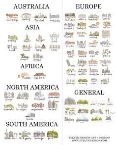 Custom Map Print by EvelynHenson on Etsy