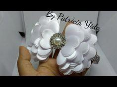 Tutorial ,Pap , Diy Laço tradicional com três camadas Laço de cetim Laço de gorgurão How To Make a Hair Bow Como fazer laço de fita de cetim ,gorgurão Faixa ...