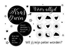 Kraskaart Wil jij mijn meter/peter zijn? Black & White