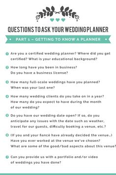 Questions To Ask Your Wedding Planner Perfect Match Planners And