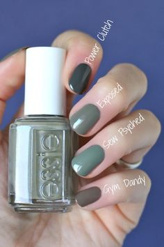 Nageldesign & Lacke Essie Envy: Essie Wild Nude Collection : Swatches & Comparisons 4 Easy Ways To R Hair And Nails, My Nails, Essie Nail Polish Colors, Essie Gel, Green Nail Polish, Gel Polish, Green Nails, Nude Nails, Glitter Nails