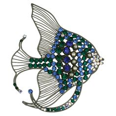 Rare Monumental Countess Cis Angel Fish Brooch