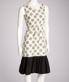 Take a look at this Black & White Dahee Dress by Mata Traders on #zulily today!