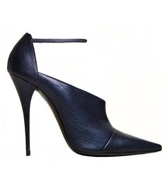 Narciso Rodriguez Midnight Pointed Stiletto with Ankle Strap