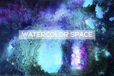 Watercolor space by Spasibenko Art on @creativemarket