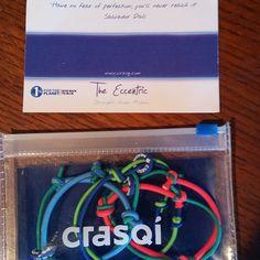 fun & creative presentation of biz card from the gals at crasqi (men's swimwear start-up) #WGBD