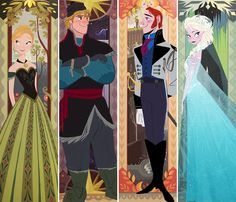 The Four Seasons #Frozen #Disney Tapestry artwork by Brittney Lee Character artwork by Bill Schwab