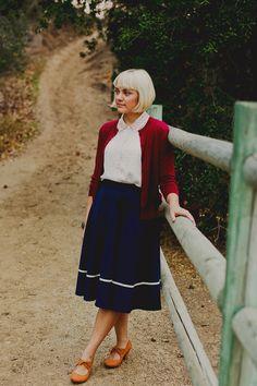 Streak of Success Skirt in Navy | Mod Retro Vintage Skirts | ModCloth.com