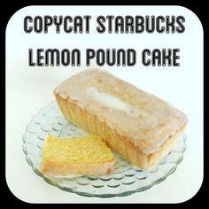 Copycat Starbucks Lemon Pound Cake Recipe www.BrightGreenDoor.com