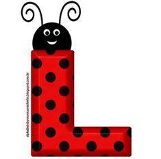 Printable Alphabet Letters, Alphabet Templates, Monogram Alphabet, Alphabet And Numbers, Ladybug Costume, Ladybug Party, Mickey Mouse Parties, Mickey Mouse Birthday, Frozen Birthday