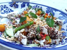 Spicy chicken & quinoa salad