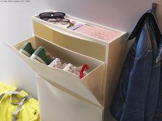 Iako je namijenjen za cipele, TRONES element velikodušno prima i rukavice, šešire, ključeve, mobitele, poštu... www.IKEA.hr/TRONES