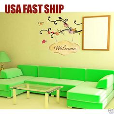 Removable Art Vinyl Quote DIY Welcome Wall Sticker Decal Mural Home Room  Decor $2.99