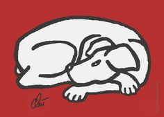 JACQUELINE DITT - Dog - Dark Grey Miniatur ltd.Grafik ger.signiert Bilder Hund