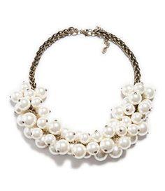 Collar de perlas. zara