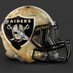 Oakland Raiders alt helmet design